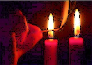 Encendiendo velas