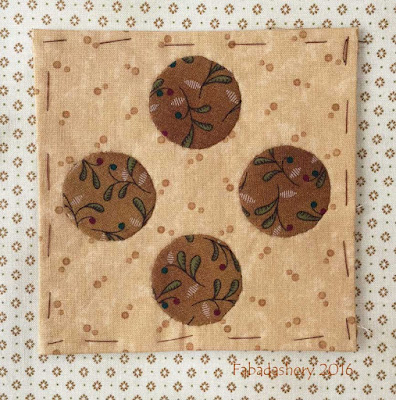Dear Jane Quilt - Block B1 Batchelor Buttons