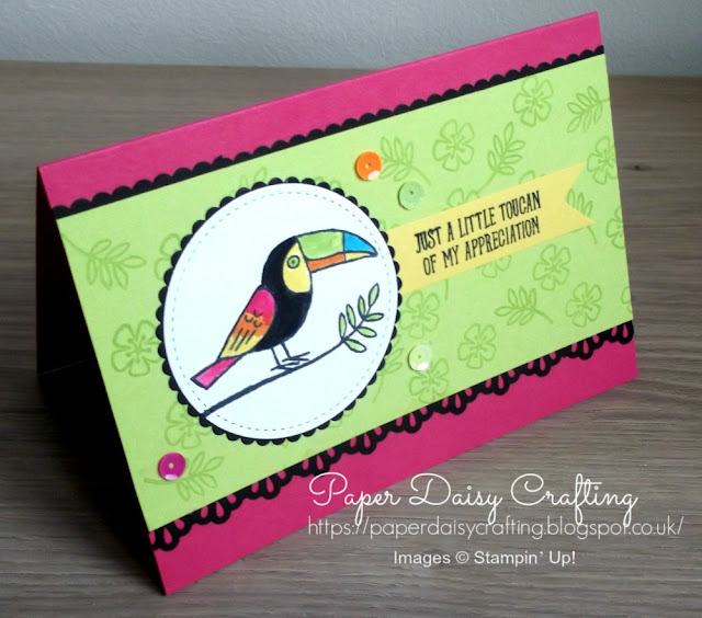 Bird banter thank you card from Stampin' Up!