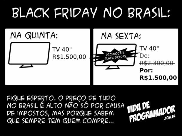 black friday brasil 2012 vida de programador