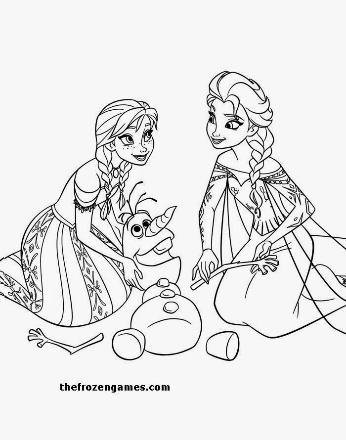Frozen Coloring Pages: Elsa Anna Olaf Frozen Coloring Page