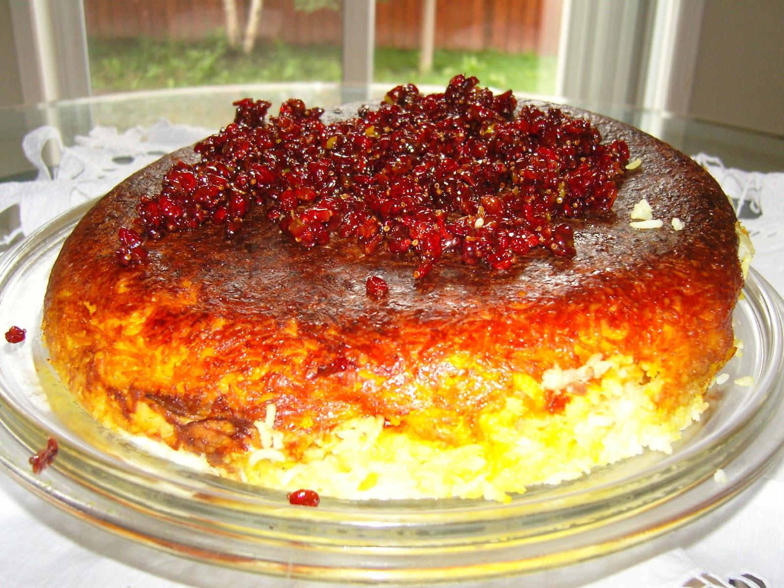 La mia cucina persiana: Tachin - Timballo di Riso con Pollo allo ...