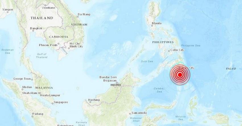 Terremoto en Filipinas de Magnitud 6.6 - Alerta de Tsunami (Hoy Domingo 6 Septiembre 2020) Sismo - Temblor - Epicentro - Talagutong - Davao - USGS - www.earthquake.usgs.gov