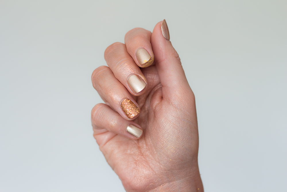 faux - ongles - kiss - impress - gold