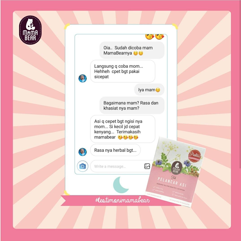 Dunia Bunda Dan Bayi Mama Bear Teh Pelancar Asi Booster Tea Mamabear Kantong Testimoni