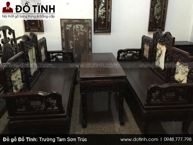 Tìm hiểu sản phẩm bộ bàn ghế trường kỷ đẹp Hải Minh
