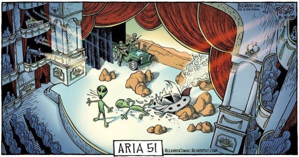 Meme de humor sobre la ópera y el Área 51