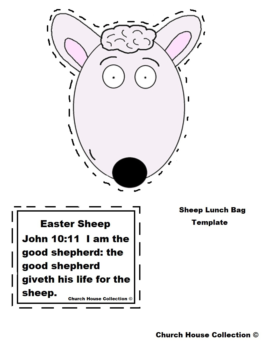 Church House Collection Blog: Easter Sheep Lunch Bag Craft