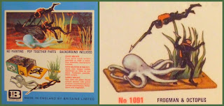 № 1091; № 1091 Divers; № 1091 Frogman & Octopus; Briatins № 1091; Britains 1091; Britains Frogman & Octopus; Britains Herald; Britains Mini Sets; Britains Minisets; Diver Figures; Diver Figurines; Frogman & Octopus; Mini Set № 1091; Mini Set Frogman & Octopus; Octopus; Sea Monster; Small Scale World; smallscaleworld.blogspot.com; Vintage Plastic Figures; Vintage Toy Figures;