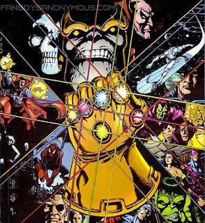 Screen shots of Thanos Infinity Gauntlet in Avengers 3