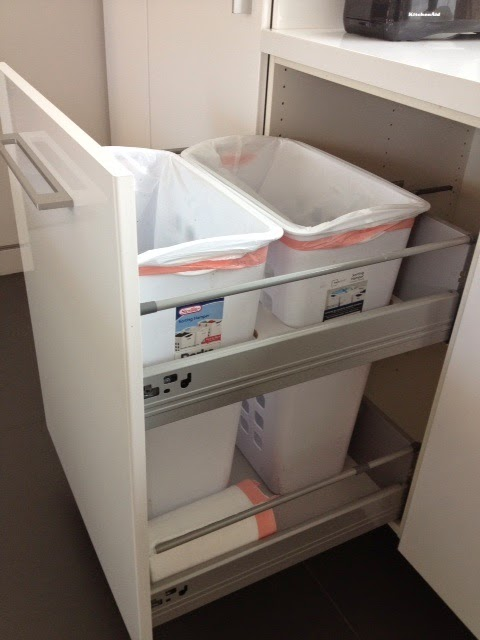 "Ikea Kitchen Cabinet Bins Non-flimsy Full Height, 24"" Wide Recycling And Trash"