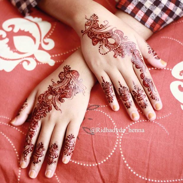 Contoh Gambar Motif Henna Di Jari Vtwctr