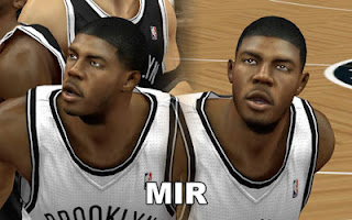 NBA 2K13 Brooklyn Nets Cyber Face Pack Mods