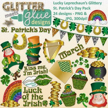 https://www.teacherspayteachers.com/Product/Lucky-Leprechauns-Glittery-St-Patricks-Day-Clip-Art-505277