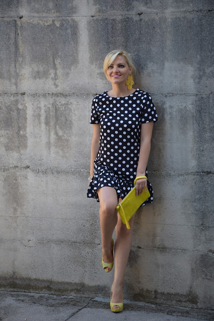 polka dots dress how to wear polka dots dress how to combine polka dots dress mariafelicia magno summer outfits blogger summer outfits september outfits fashion bloggers italy italian fashion bloggers italian web influencer