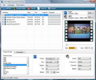 Koyote gratis Video Converter