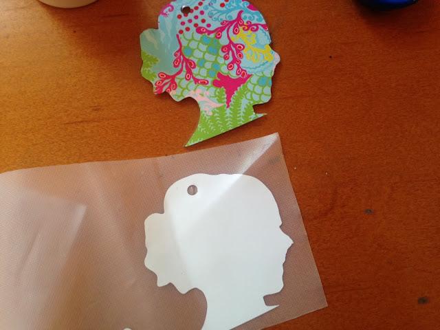 double sided acrylic keychain vinyl silhouette cameo