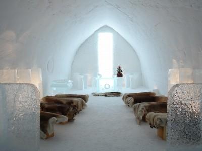 Una boda bajo cero en una capilla de hielo - Foto: www.visitfinland.com