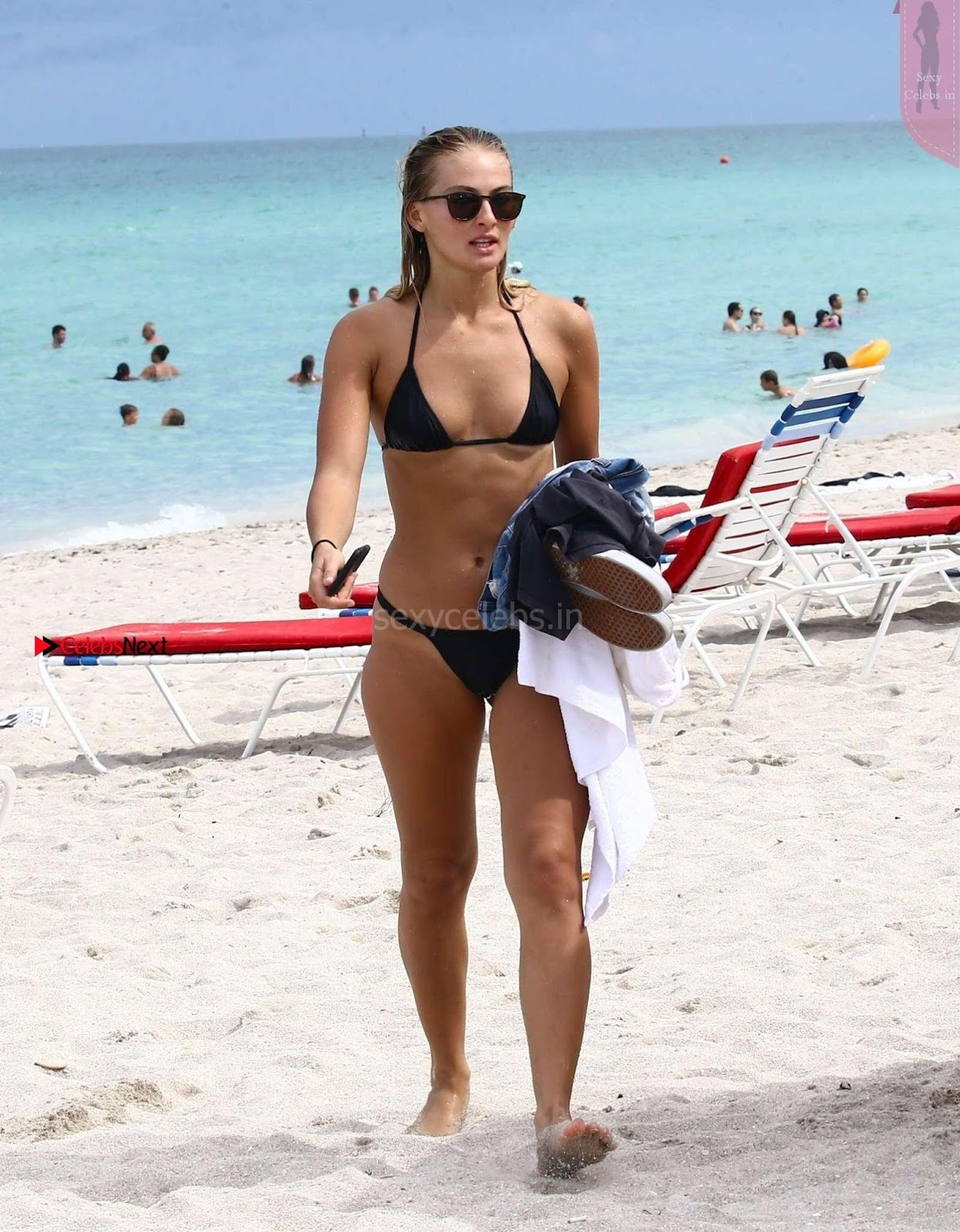 Sexy Bikini Babe Selena Webber in Black Wet Bikini Gorgeous Tits Boobs ass August 2017