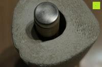 Lücke: Lumaland Cuisine Küchenrollenhalter aus Bambus mit Edelstahl Spitze, Ø ca. 14 cm x 32 cm