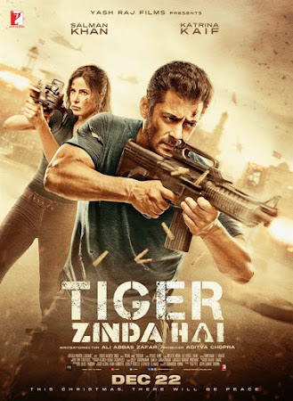 Poster Of Bollywood Movie Tiger Zinda Hai 2017 300MB Pdvd Full Hindi Movie