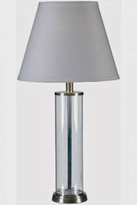 Restoration Hardware French Column Glass Table Lamp Decor Look Alikes