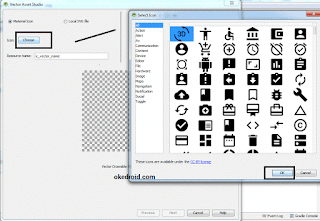Select Icon Vector Asset Android Studio