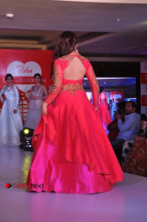 South Indian Celebrities Pos at Love For Handloom Collection Fashion Show  0010.jpg