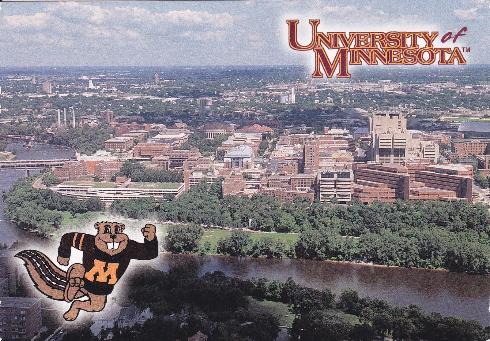 My World-wide postcard: USA-University of Minnesota