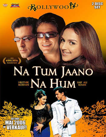 Poster Of Na Tum Jaano Na Hum 2002 Hindi 450MB DVDRip 480p Watch Online Free Download Worldfree4u