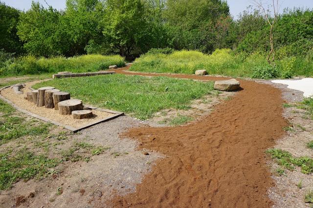 פארק החושים -שביל חול