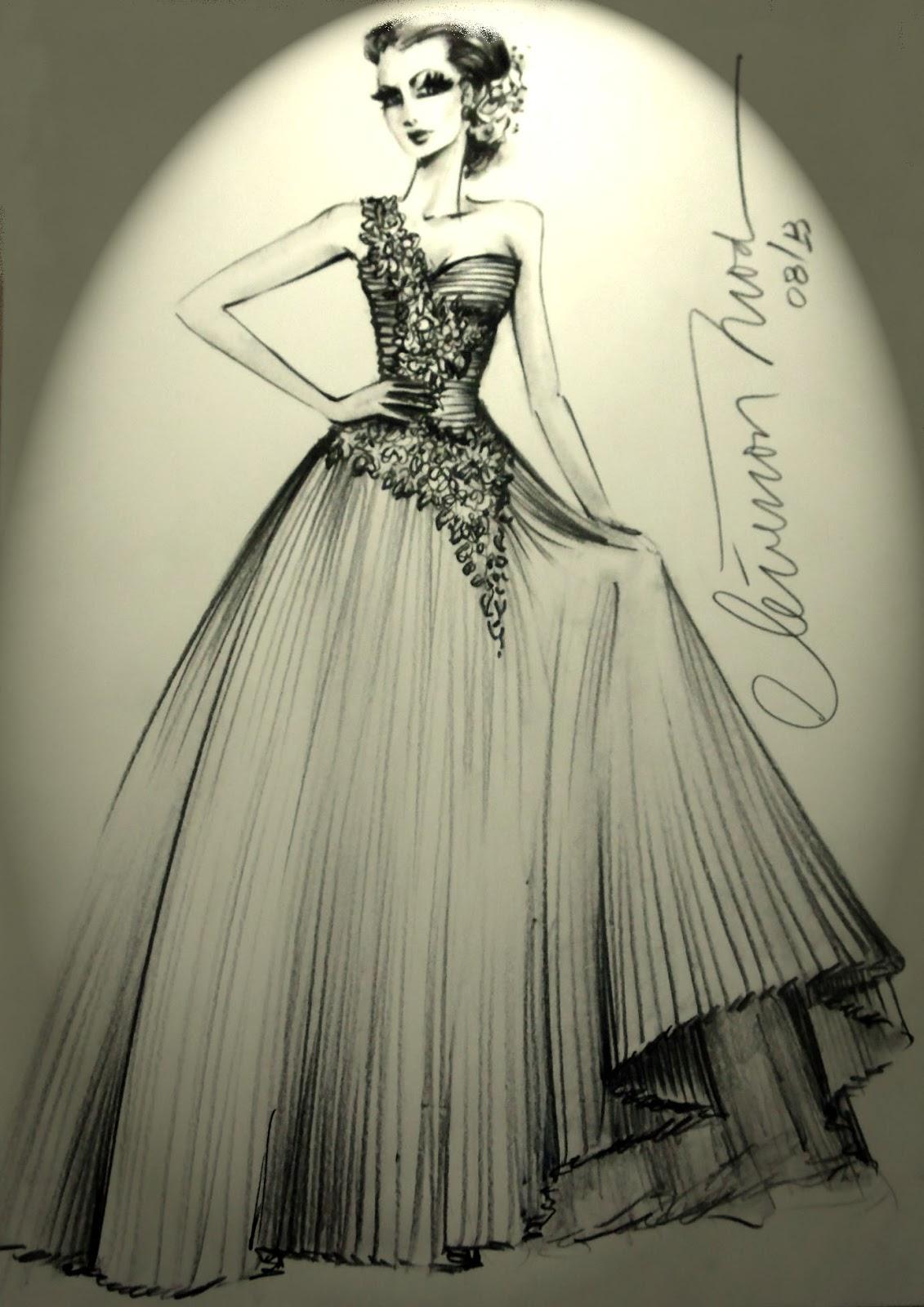 Desenho De Vestido De Casamento