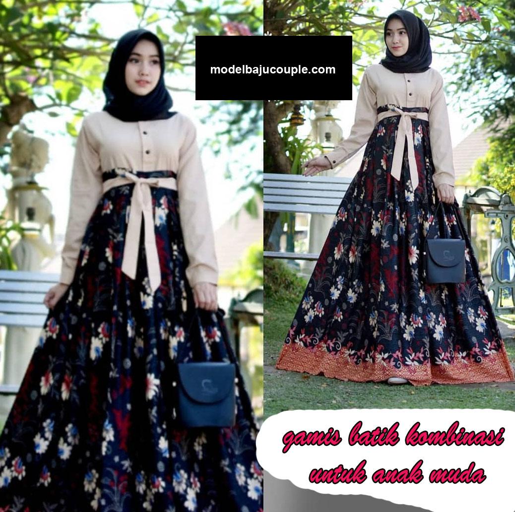 Model Gamis Batik Kombinasi Anak10 - Model Hijab Terbaru