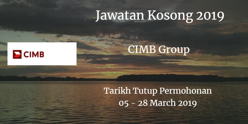 Jawatan Kosong CIMB Group 05 - 28 March 2019