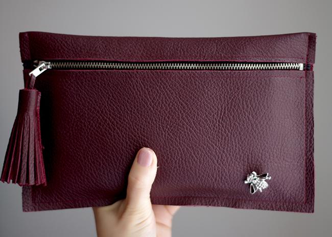 Quality Sewing Tutorials Tassel Leather Clutch Tutorial