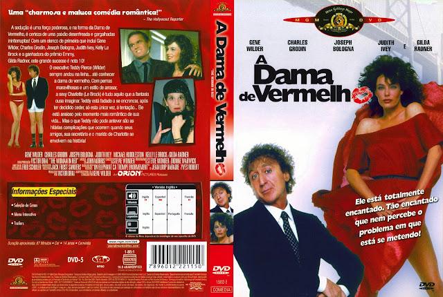 Capa DVD A Dama de Vermelho