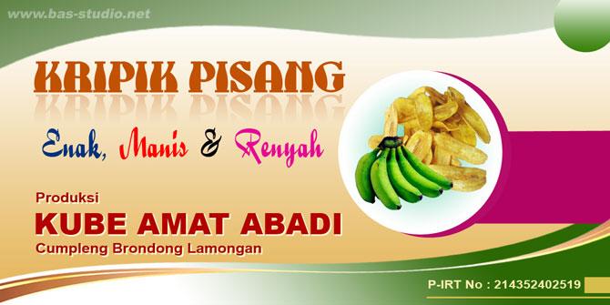 Label Kripik Pisang