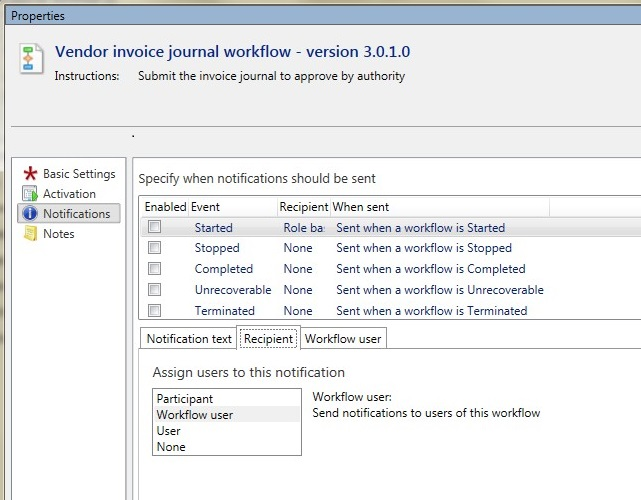 vendor invoice journal workflow with managerial hierarchyax 2012 microsoft dynamics ax community