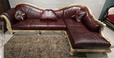 sofa sudut jati