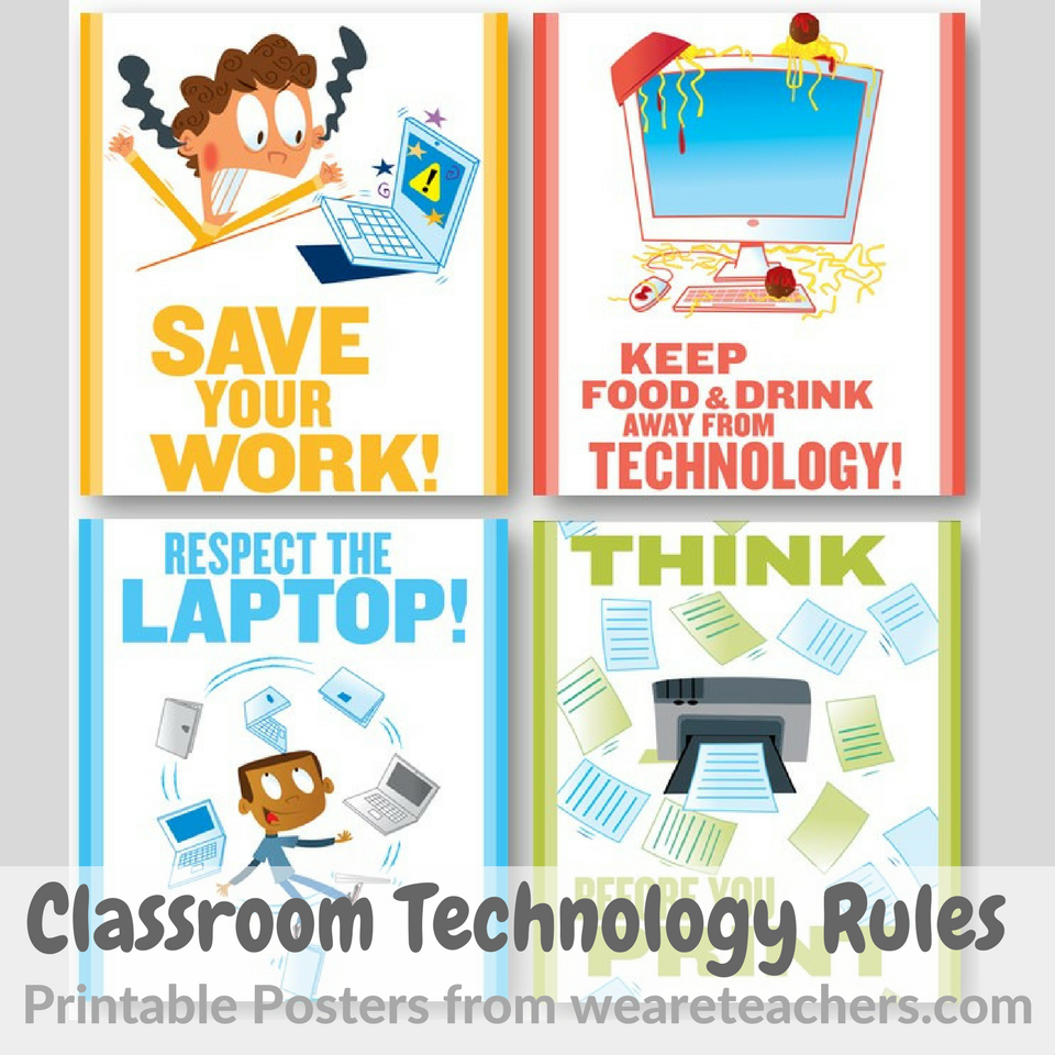 photo regarding Printable Technology referred to as Clroom Know-how Regulations - Printable Posters - Clroom