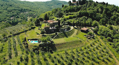 Aerial view of Agriturismo La Sala at La Panca
