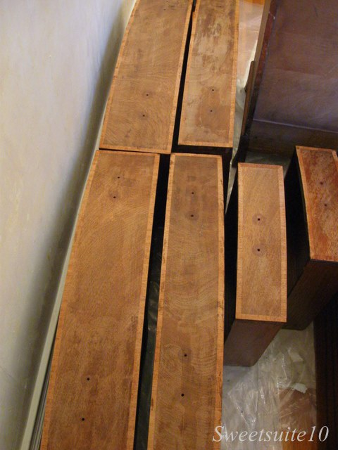 Stripped dresser drawers