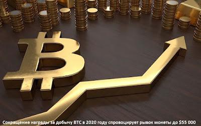 Сокращение награды за добычу BTC в 2020 году спровоцирует рывок монеты до $55 000