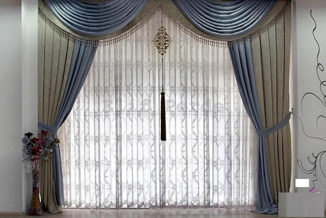 ultra luxury curtain designs in modern bedroom