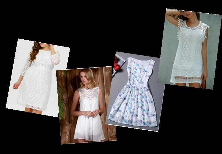 Vestido de Renda Branca - Wishlist Rosegal