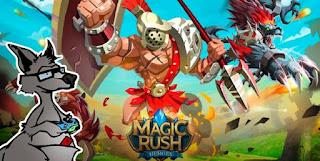 تحميل لعبة ماجيك راش  magic rush heroes مهكرة للاندرويد وللايفون و للكمبيوتر اخر اصدار 2018