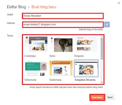 4 Langkah Mudah Membuat Blog Di Blogger.com Gratis Untuk Pemula