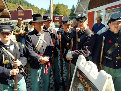 Union Soldiers Mt. Rainier Scenic Railroad 2016 Event