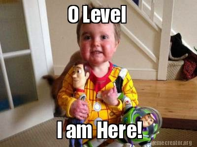Cute Baby with Toys excited for O Level