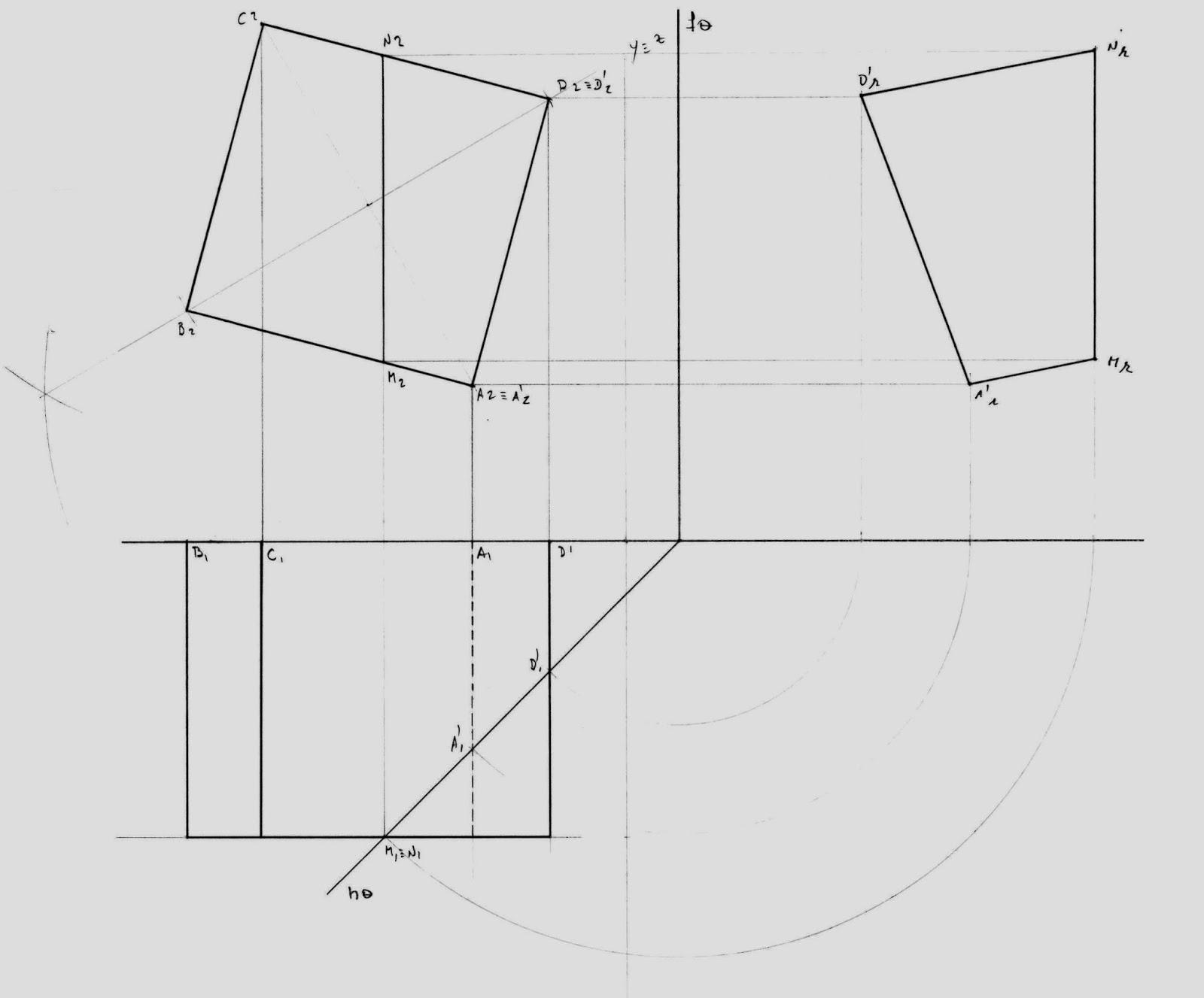Exame Nacional Geometria Descritiva 2015 2 Q3 ( proposta de resolução )